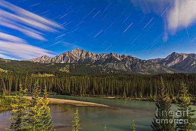 Star Trails Above The Front Ranges Art Print by Alan Dyer