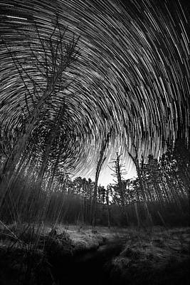Photograph - Star Trails - Blue Ridge Parkway by Victor Ellison
