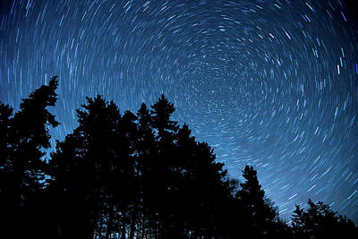 Photograph - Star Trails In Acadia by Jesse MacDonald