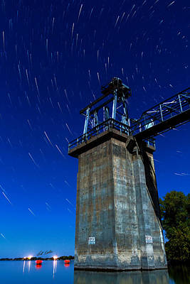 Photograph - Star Trails Outlet by Bill Kesler