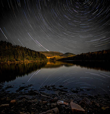 Photograph - Star Trails Over Cadillac And Dorr by Brent L Ander