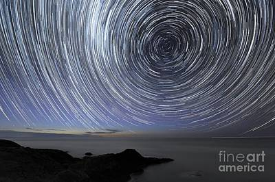 Moonlit Night Photograph - Star Trails Over Flinders, Australia by Alex Cherney, Terrastro