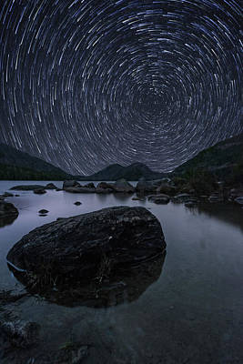 Photograph - Star Trails Over Jordan Pond by Jesse MacDonald