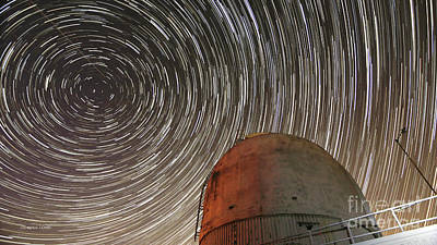 Photograph - Star Trails Over Observatory by Gordon Wood
