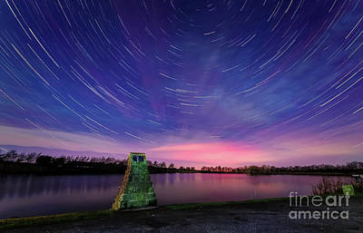 Photograph - Star Trails Over The Tarn by Mariusz Talarek