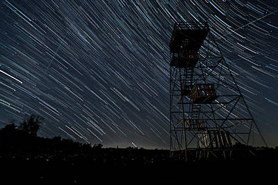 Photograph - Star Trails by Steven Wilson