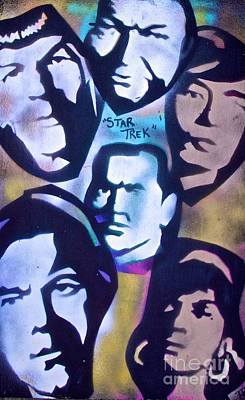 Tony B. Conscious Painting - Star Trek Faces by Tony B Conscious