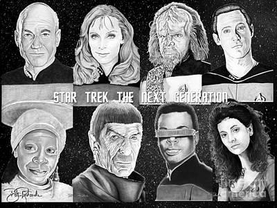 Klingon Wall Art - Drawing - Star Trek Next Generation by Bill Richards