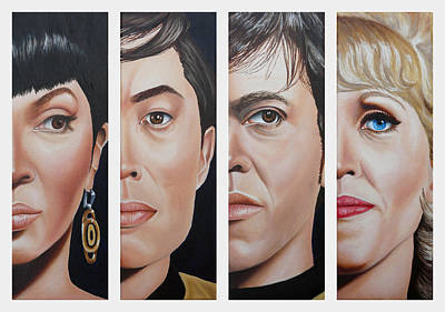 Painting - Star Trek Set Two by Vic Ritchey