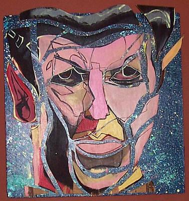 Painting - Star Trek Spock 3-d by David Karasow