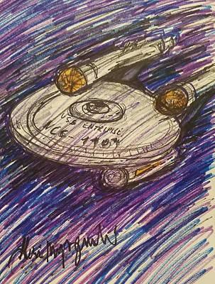 Star Treks Uss Enterprise  Art Print by Geraldine Myszenski
