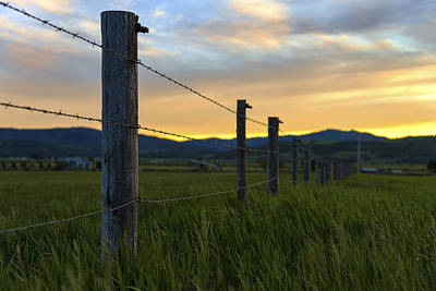 Fence Photograph - Star Valley by Chad Dutson