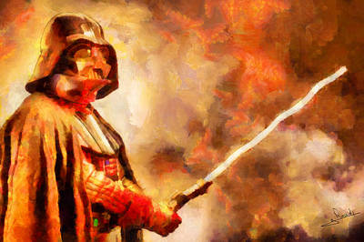 Blood Painting - Star Wars 1 by George Rossidis