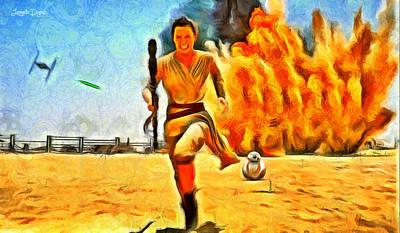 Beam Painting - Star Wars 7 Rushing - Pa by Leonardo Digenio