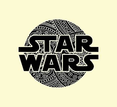Star Wars Art - Logo - Black Art Print