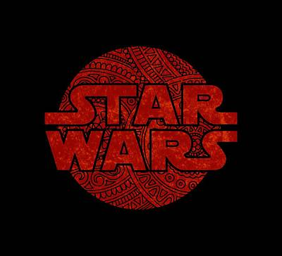 Star Wars Art - Logo - Red Art Print