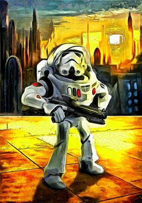 Woody Painting - Star Wars Astronaut-trooper by Leonardo Digenio