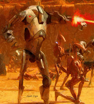 Force Digital Art - Star Wars B2 Battle Droid  - Free Style -  - Da by Leonardo Digenio