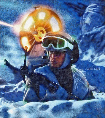 Time Digital Art - Star Wars Battle Of Hoth  - Wax Style -  - Da by Leonardo Digenio