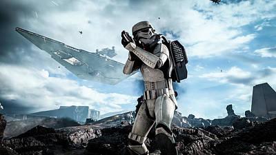 Star Wars Battlefront Stormtrooper Art Print