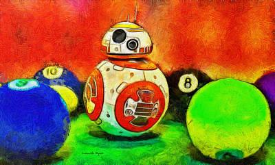 Tennis Digital Art - Star Wars Bb-8 And Friends - Da by Leonardo Digenio