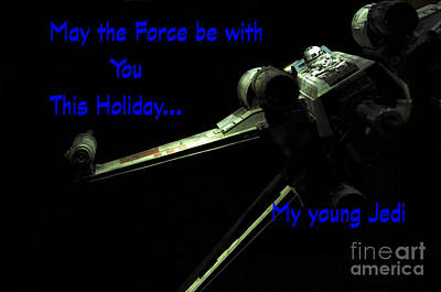 Jet Star Photograph - Star Wars Birthday Card 5 by Micah May
