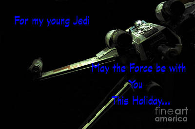 Jet Star Photograph - Star Wars Birthday Card 7 by Micah May