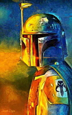 Star Wars Boba Fett Warrior Art Print