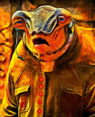 Frogs Digital Art - Star Wars Bollie Prindel - Da by Leonardo Digenio