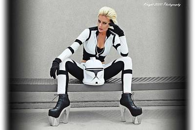 Machine Photograph - Star Wars By Knight 2000 Photography- Clone Trooper by Laura Michelle Corbin