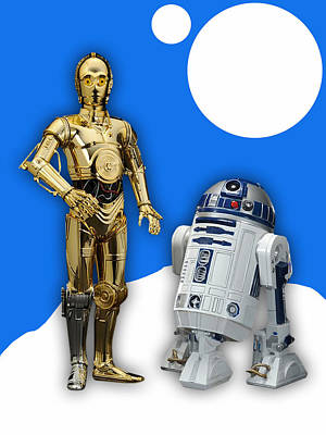 Star Wars C-3po And R2-d2 Art Print by Marvin Blaine