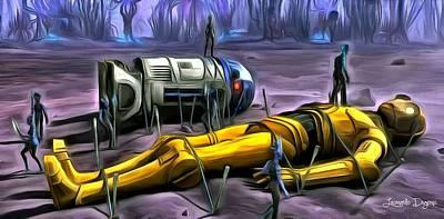 Stormtrooper Painting - Star Wars - Captured by Leonardo Digenio