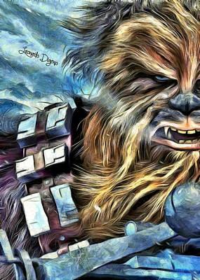 Star Wars Chewbacca - Da Art Print by Leonardo Digenio