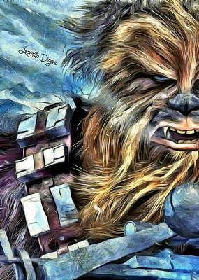 Warriors Painting - Star Wars Chewbacca by Leonardo Digenio