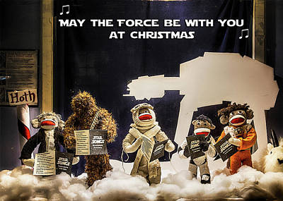 Photograph - Star Wars Christmas Card by John Haldane