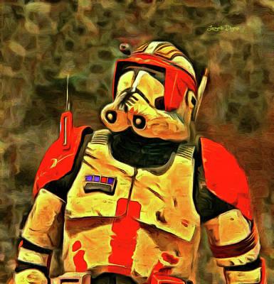 Stormtrooper Painting - Star Wars Clone Commander by Leonardo Digenio