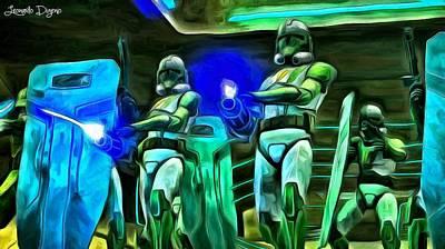 Lit Digital Art - Star Wars Clone Trooper - Da by Leonardo Digenio