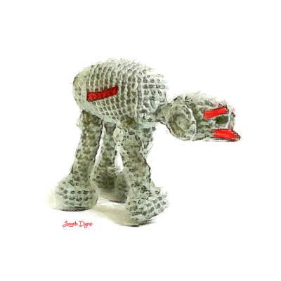Star Wars Combat Crochet Armoured Vehicle - Da Art Print by Leonardo Digenio