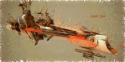 Star Wars Combat Speeder Print by Leonardo Digenio