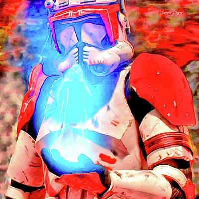 Rescuing Painting - Star Wars Commander Receiving Order 66 by Leonardo Digenio