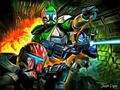 Storm Trooper Painting - Star Wars Commando 2 by Leonardo Digenio