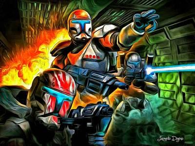 Solo Painting - Star Wars Commando by Leonardo Digenio