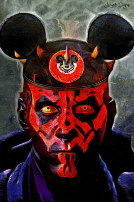 Star Wars Darth Maul Mouse Print by Leonardo Digenio