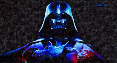 The Boss Digital Art - Star Wars Darth Vader Boss - Da by Leonardo Digenio