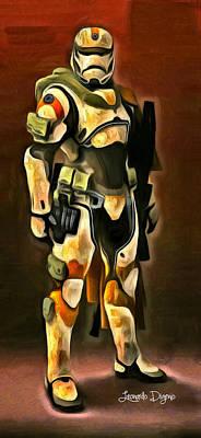 The Painting - Star Wars Desert-ops Stormtrooper by Leonardo Digenio