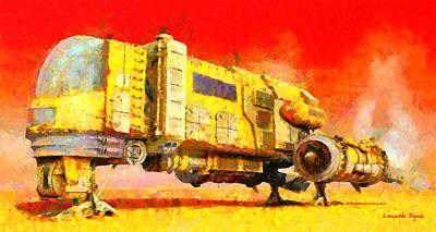 Machinery Painting - Star Wars Desert Transport Ship - Pa by Leonardo Digenio