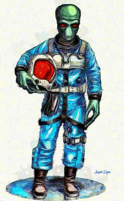 Worn Digital Art - Star Wars Duro Pilot - Da by Leonardo Digenio