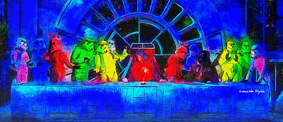 Supper Painting - Star Wars Empire Last Supper 2 - Pa by Leonardo Digenio