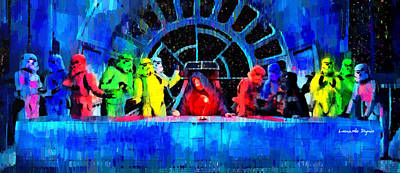 Movie Digital Art - Star Wars Empire Last Supper - Da by Leonardo Digenio
