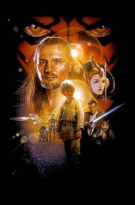 Star Wars Episode I - The Phantom Menace 1999  Art Print
